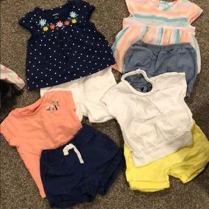 Summer outfits- 4 total (8 pieces)